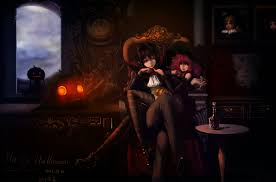 rem witch anime halloween candy wallpaper 12970 download
