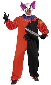 Carnival Halloween Costumes Scary Bo Bo Clown Costume Perfect Creepy Carnival