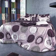 Purple Grey Duvet Cover Purple Gray Circle Pattern Duvet Cover Set Bedding Silver Fern