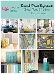 gray and yellow color schemes gray teal and yellow color scheme decor inspiration