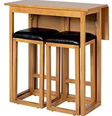 high table with stools 2 seater breakfast bar set folding kitchen table stools drawer tile