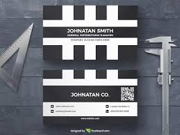 black and white business card freebcard