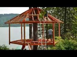 Tree House Backyard by Treehouse Build Timelapse Youtube