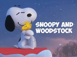 draw snoopy woodstock hugging peanuts movie