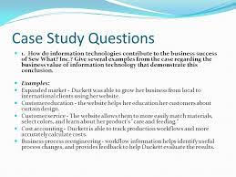 business case study examples ppt business case study examples