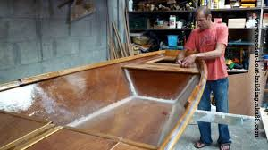 Free Wooden Boat Plans Plywood by Fiberglass And Epoxy Resin Stratification Of The Inside Of The