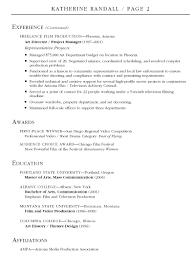 sample production resume production assistant resume byu edu