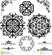set kazakh asian ornaments and patterns stock vector image 53490603