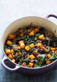 roasted butternut squash kale sauté recipe simplyrecipes