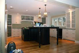 Distance Between Island And Cabinets Bar Kitchen In White Arrangement With Led Ceiling Lighting Pendant
