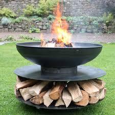 Steel Firepits Ring Of Logs Steel Firepit By Firepits Uk Notonthehighstreet