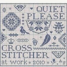 cross stitch pattern design software quiet please stitcher at work a free cross stitch pattern from