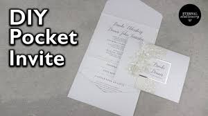pocket invitation pocket invitation with belly band diy wedding