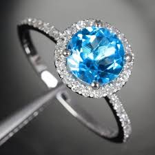 blue promise rings images Blue topaz 14k white gold pave diamond helo engagement promise jpg