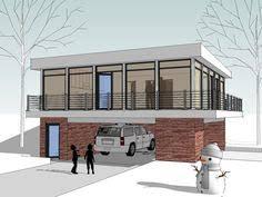 062g 0081 2 car garage apartment plan with modern style 2 car