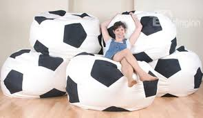 soft creative soccer ball design bean bag chair beddinginn com