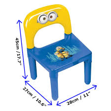 Minion Desk Accessories by Minions Kid U0027s Plastic Play Activity Table And Chair Set Children U0027s