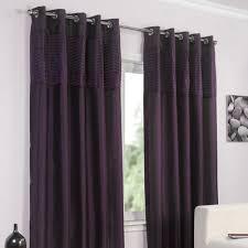 Plum Faux Silk Curtains Pippa Faux Silk Lined Eyelet Curtains Aubergine Matty Chuah Range