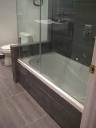 Small Bathroom Shower Stall Ideas by White Wall Compact Bathroom Modern Designs With Black Tile