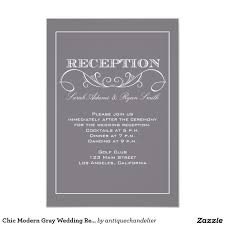 reception invitations reception invitations chic modern gray wedding reception