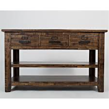 Sofa Tables With Drawers by Jofran 1510 4 Cannon Valley Sofa Table With 3 Drawers And Two