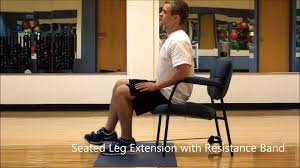 Chair Resistance Band Exercises Seated Leg Extensions With Resistance Band Youtube