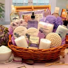 spa baskets essence of lavender spa gift basket gifts for arttowngifts