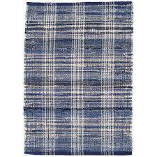 denim plaid woven cotton rug dash u0026 albert