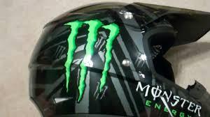airbrushed motocross helmets ricky dietrich monster energy helmet o u0027neal youtube