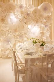 wedding backdrop paper flowers paper flower wedding ideas polka dot