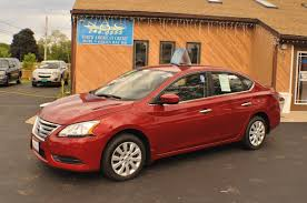 sentra nissan 2014 2014 nissan sentra sv red sedan used car sale