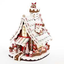 kurt s adler 12 in lighted gingerbread house j3628