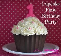 cupcake first birthday party pink polka dot bake shop
