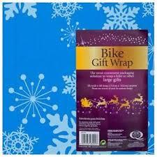 christmas bike gift wrap bag xmas wrapping present large 1 5 x