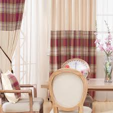 Plaid Drapes Luxury Chenille Curtains For Living Room Thick Plaid Drapes For