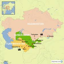 Silk Road Map Central Asian Silk Road By Rail The 3