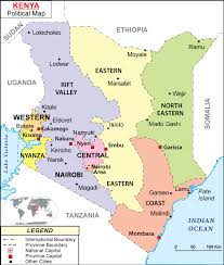 geographical map of kenya maps of kenya bizbilla