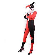 Harley Quinn Halloween Costume Amazon Harley Quinn Costume Bodysuit Catsuit Clothing