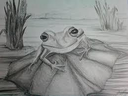frog totem drawing by carol frances arthur