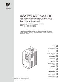yaskawa ac drive a1000 technical manual pdf cnc manual