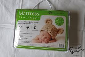 Bamboo Crib Mattress Soft Waterproof Bamboo Viscose Crib Mattress Protector Margaux
