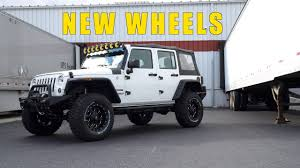 matte black jeep jeep wrangler jk fuel revolver wheel and tire package 17