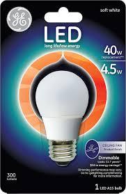 Ceiling Fan Light Bulbs Led Ge Lighting 89986 Led 4 5 Watt 300 Lumen Dimmable A15 Ceiling Fan