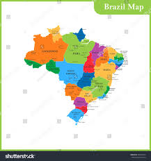 States And Capitals Map by Detailed Map Brazil Regions States Cities Stock Vector 589262564