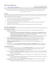 Staffing Recruiter Resume Human Resources Generalist Resume Free Resume Example And