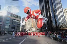 mighty morphin power ranger balloon takes flight at the 89th