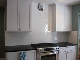 kitchen glass backsplash tiles black appliances with white