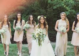 bridesmaid dresses for summer wedding rustic summer wedding with blush bridesmaids dresses