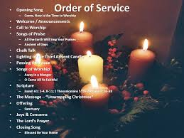 advent candle lighting order order of service opening song welcome announcements call to