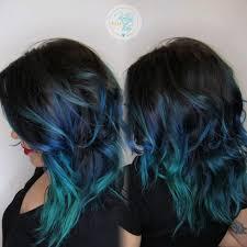 black blue teal vivid hair color melt by kellyn at bow u0026 arrow